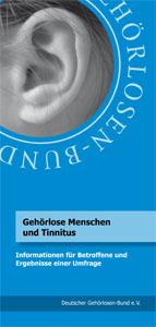 """Broschüre """"Gehörlose Menschen und Tinnitus"""""""