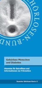 """Broschüre """"Gehörlose Menschen und Diabetes"""""""